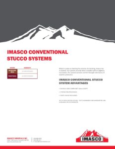 Brochure for IMASCO Conventional Stucco Systems