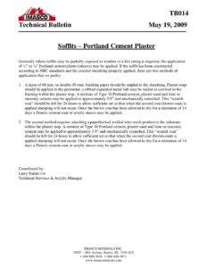 Soffits - Portland Cement Plaster