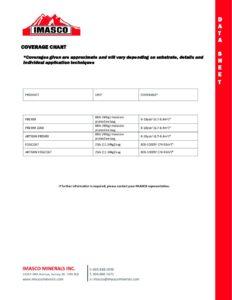 Coverage Chart Datasheet