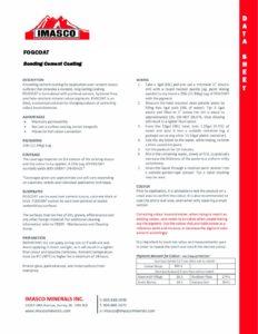 Datasheet for IMASCO Finishes: FogCoat