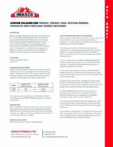 Datasheet for IMASCO Colours 2021